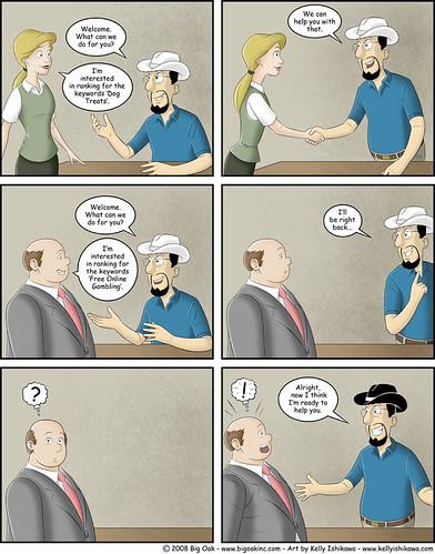 Black Hat SEO, SEO Comic
