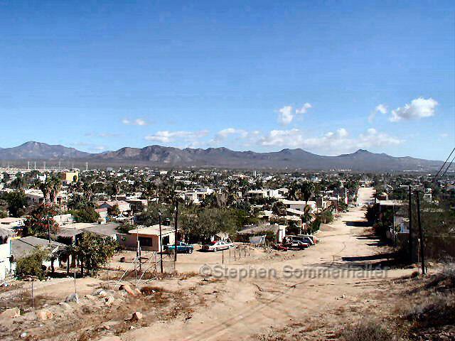 Cabo San Lucas suburbs view