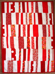 red and white Hop Skip and a Jump baby quilt | by blempgorf