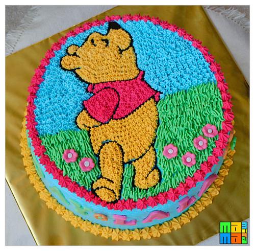 Fantastic Winnie The Pooh Birthday Cake Hani Flickr Funny Birthday Cards Online Necthendildamsfinfo