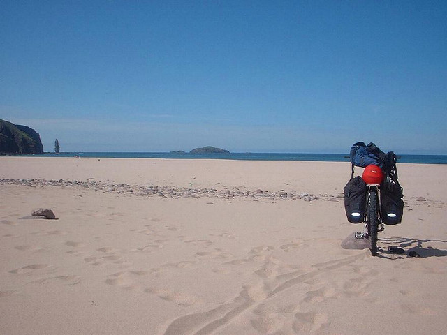 My bike at Sandwood Bay