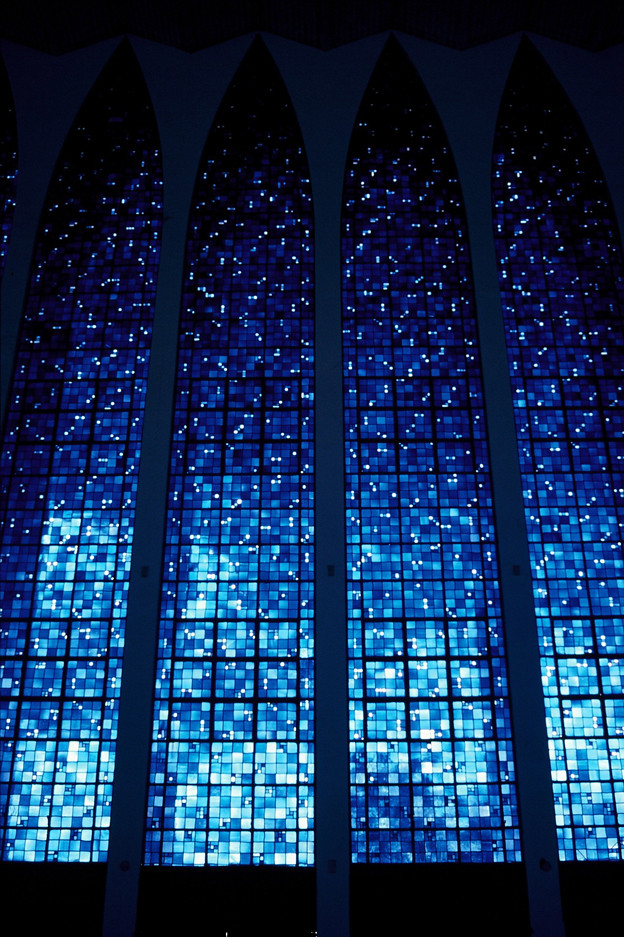 """Glass Night"", Dom Bosco church, Brasilia, Brazil"