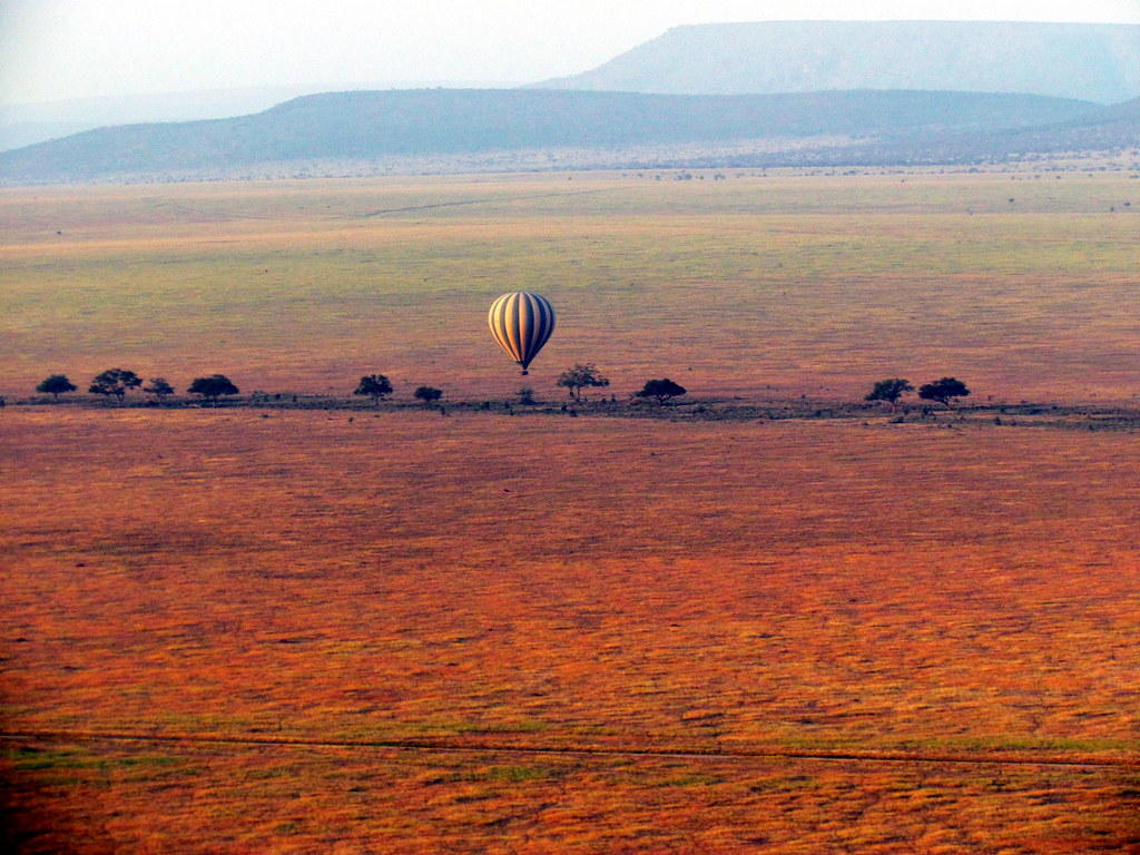 Serengeti Hot Air Balloon Ride - Serengeti National Park - Tanzania, Africa