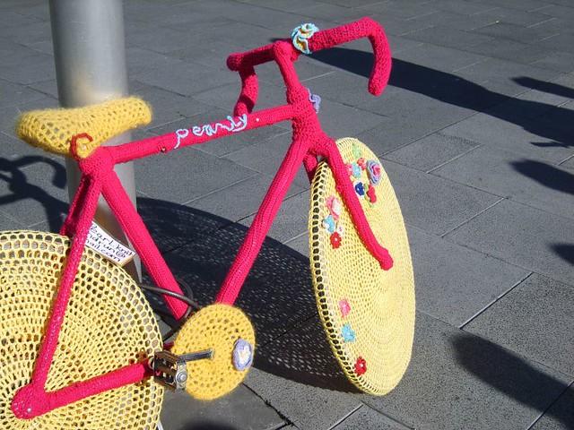 Yarn Bomb - bike IYBD
