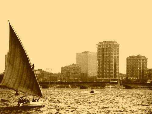 sunset boat nile cairo egyptian egyot