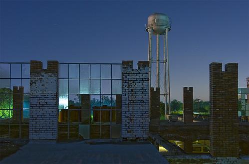 mill abandoned night ruins texas watertower cotton mckinney