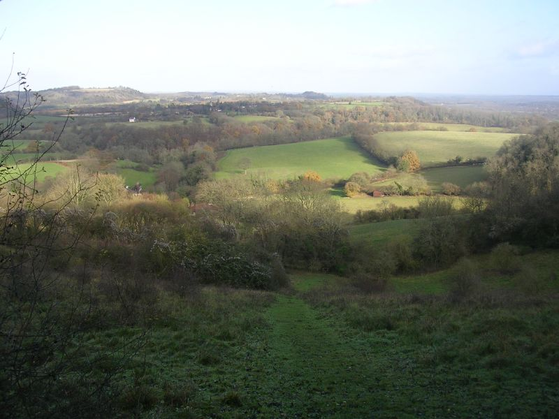 Shoulder of Mutton Hill : view north Petersfield to Liss
