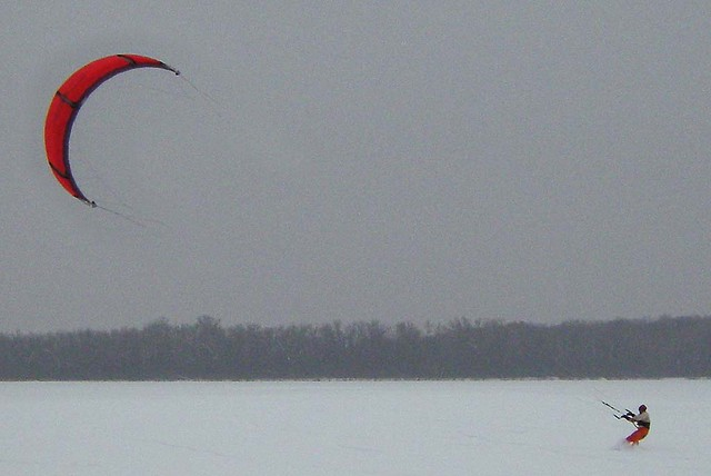 Wingra Moment >> Kite Snowboarding On Lake Wingra Last Year At This Time I Flickr