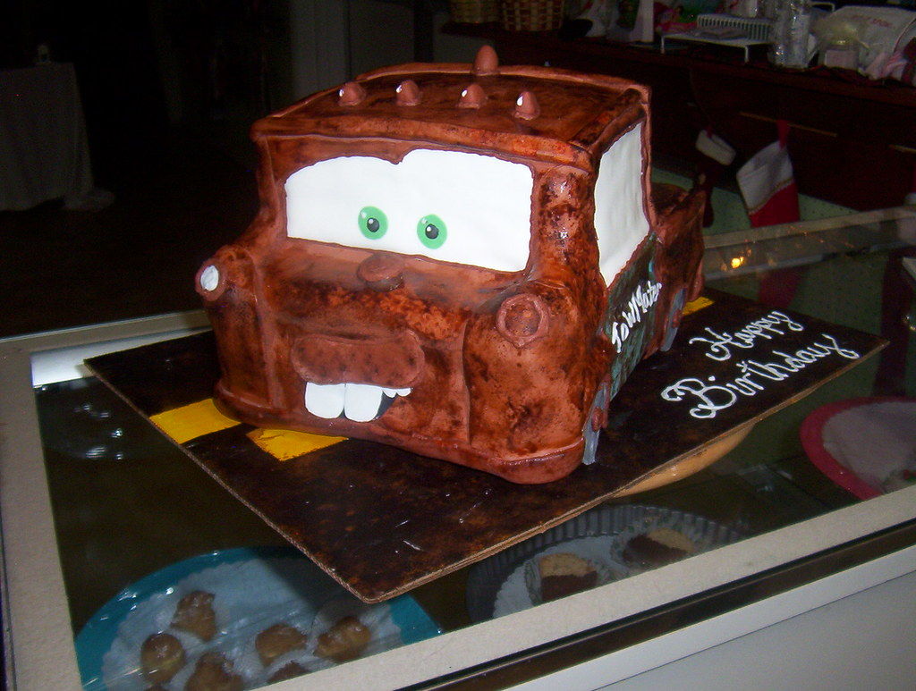 Tremendous Tow Mater Birthday Cake Tow Mater Birthday Cake For The Ca Flickr Funny Birthday Cards Online Alyptdamsfinfo