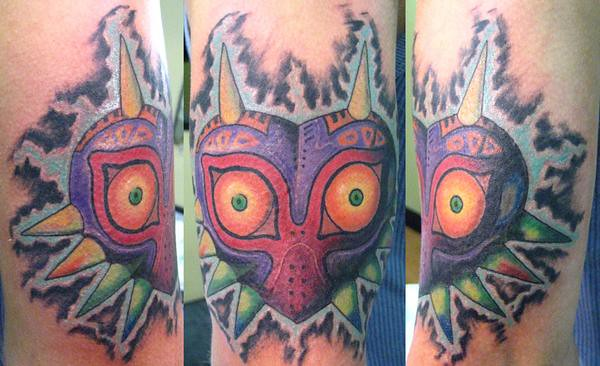 majora's mask tattoo