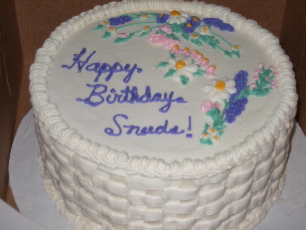 Admirable Spring Birthday Cake 9 Inch Round White Cake With Strawber Funny Birthday Cards Online Elaedamsfinfo