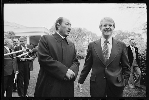 No Known Restrictions: President Jimmy Carter and Egyptian President Anwar Sadat by Marion S. Trikosko, 1977 (LOC)