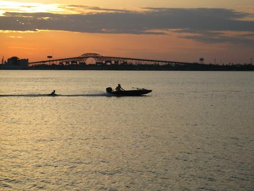 bridge sunset water powershot lakecharles interstate10 canonsd450 sd450 chrislin christopherlin