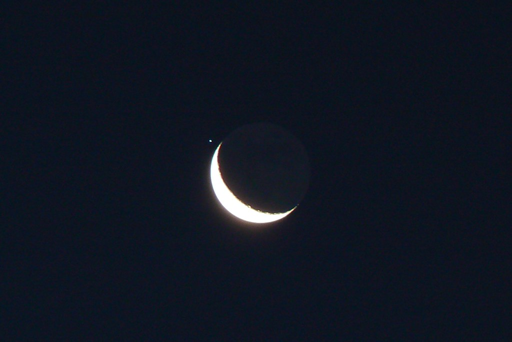 Crescent Moon and Regulus