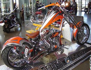 Custom Harley Davidson chopper