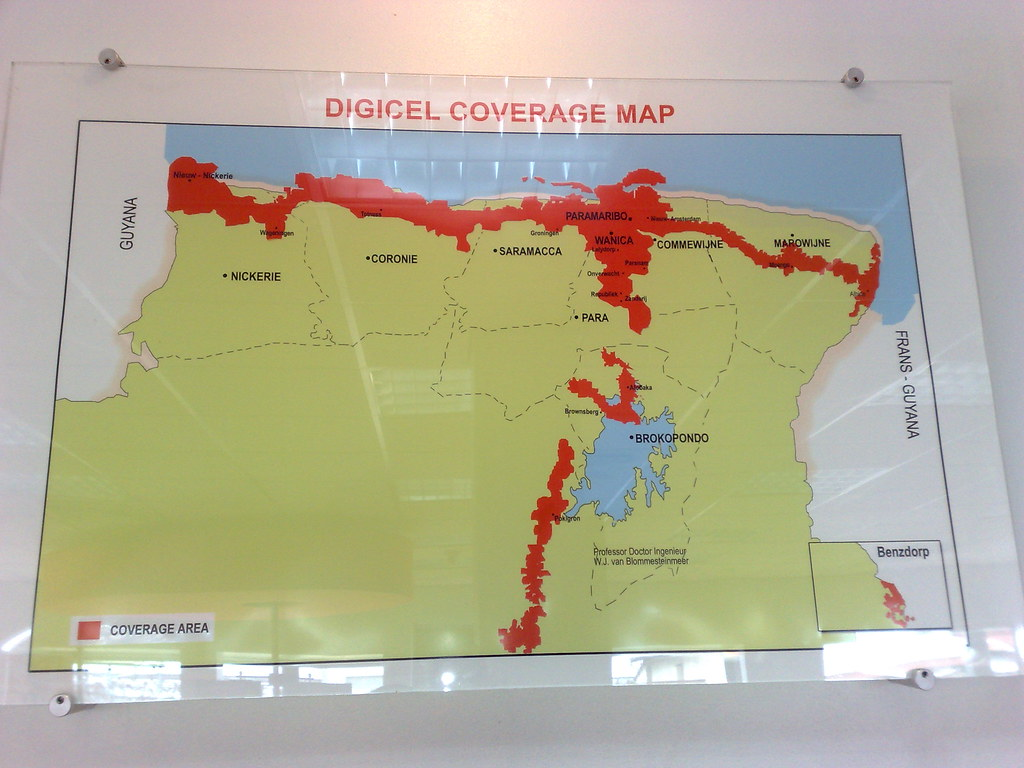 Digicel Coverage Map on