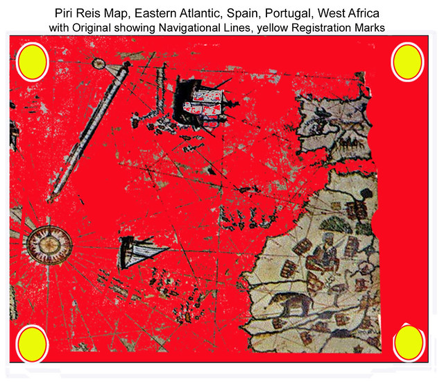 Piri Reis Map Extracted, Eastern Atlantic