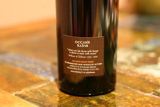 Occam's Razor back label | by Shishberg