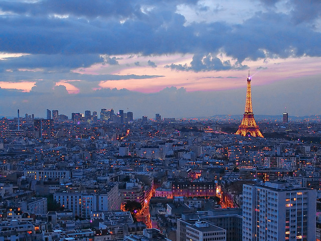 Summer sky in Paris