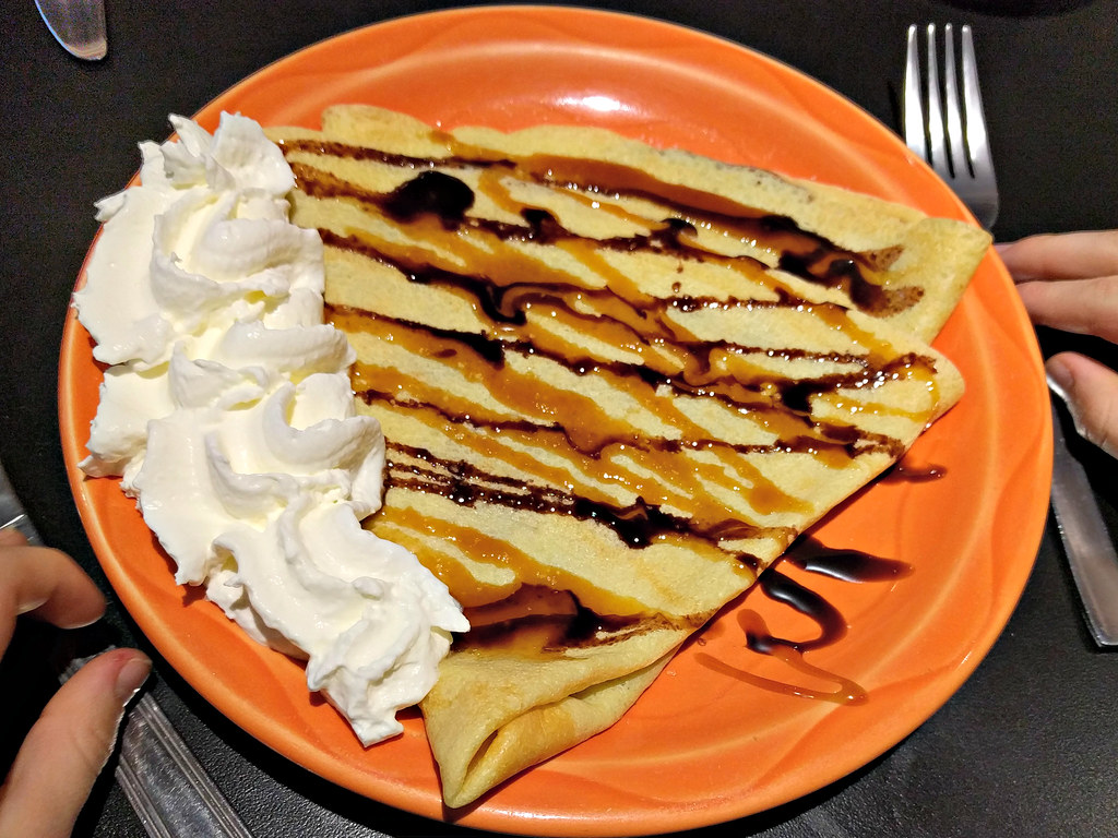 Chocolate and salted caramel crepe at Tod Mountain Cafe | Flickr