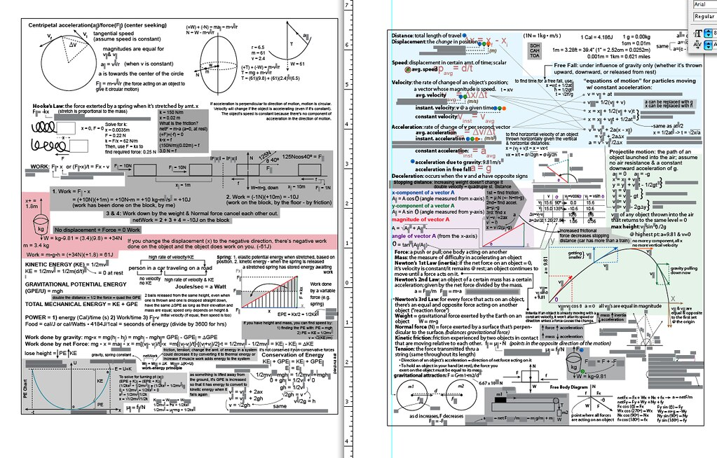 My physics mid-term cheat sheet   We get a double-sided 8 5 …   Flickr
