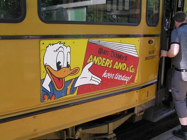 Anders And-reklame på sporvogn Donald Duck on Tram