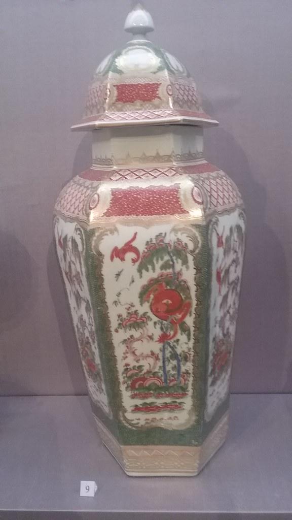 covered vase, Bengal tiger pattern