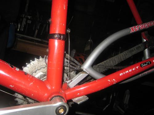 cracked xtracycle tongue   by carfreedays