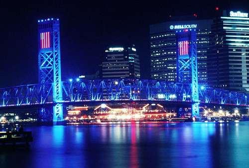 travel night landscape architecture water jacksonville florida jax aerial commented grouped favorited