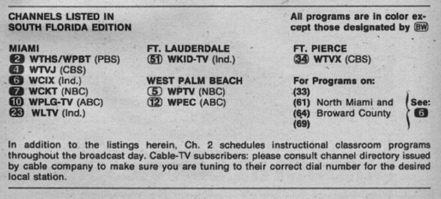 South Florida Edition (March 6, 1976) | From my TV Guide col