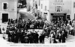 Publication des dépèches offcielles de la guerre 1914-1918 à Orgelet