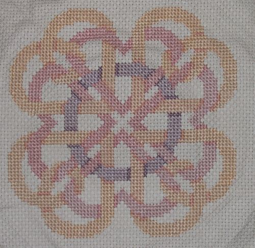 Intertwined hearts cross-stitch project | by joemayer