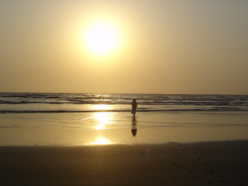 sunset india beach awas