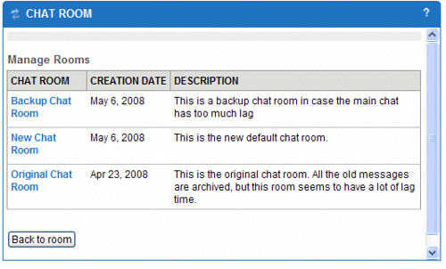 backup_chat - List of chat rooms in our Sakai pilot - Christy Tucker - Flickr