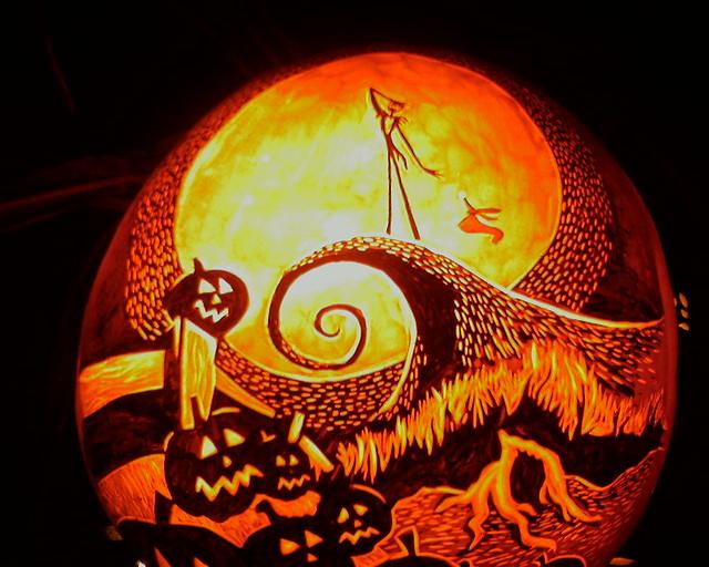 Image result for Nightmare before christmas jack o lantern
