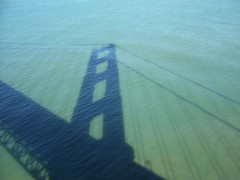 Shadows of a bridge