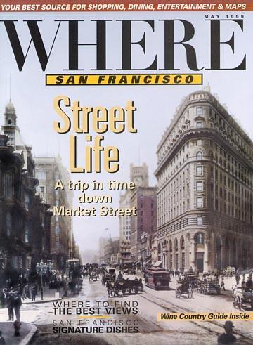 View up Market Street c1905