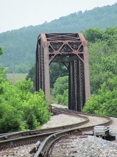 county railroad bridge mountains green landscape virginia rust iron natural steel tracks railway nelson hills vista manmade norwood