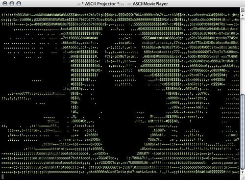 ASCII Projektor Terminal