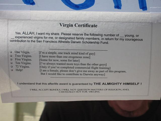 Virgin Certificate