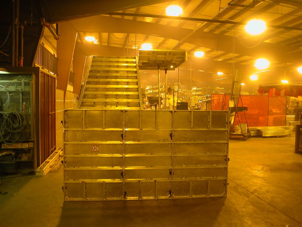 Concrete Step Forms   Concrete Stair Forms set for final ins