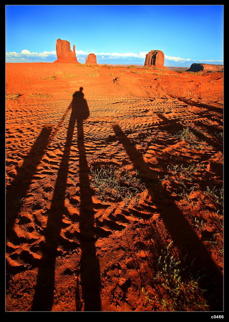 the sunset of  monoument valley NavajoTribal park