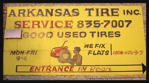 Sign: Arkansas Tire Company--Detroit MI