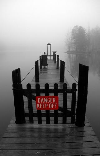 bridge blackandwhite bw misty fog pier dock huntsville alabama foggy naturetrail greenmountain bamawester flickrsbest napg