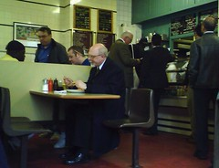 Regency Cafe - lunching alone   by fieldus