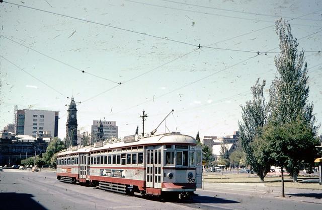 1960 GLENELG TRAM IN VICTOIA SQUARE