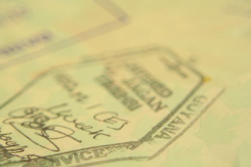 Passport stamp: Guyana | by madmack66
