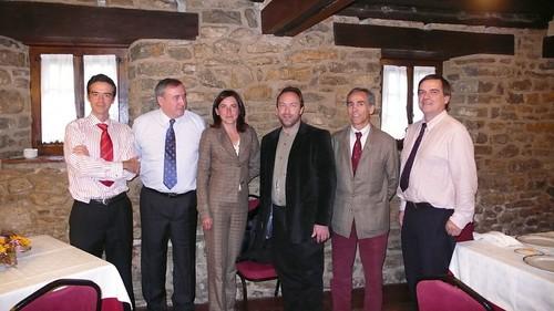 Comida con Jimmy Wales en 2007, creador de la Wikipedia