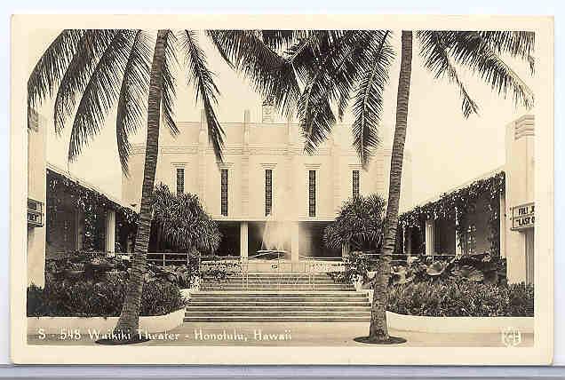 Waikiki Theatre Hawaii 1937