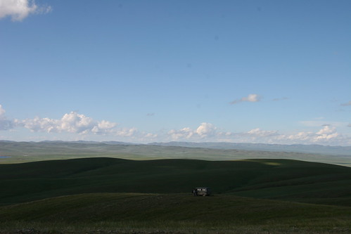 panorama mountains clouds mongolia roads steppes arkhangayaimag ogiynuursum